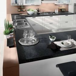 KLIP επιπλο κουζινας nero brill παγκος βακελιτη