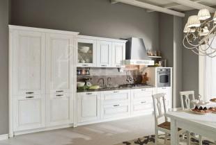 Λευκη κουζινα ντεκαπε μασιφ