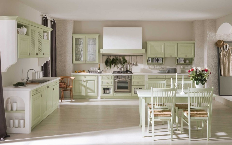 Επιπλο κουζινας σχεδιο Romantica Ημιμασιφ