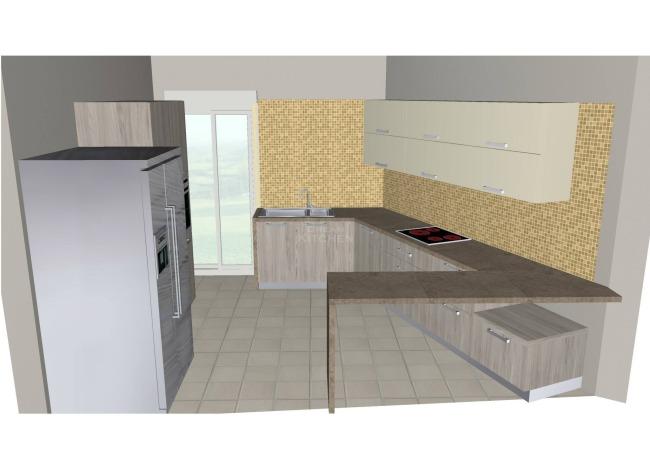 Σχέδιο Κουζίνας Βακελίτη και Λάκα 4.300€
