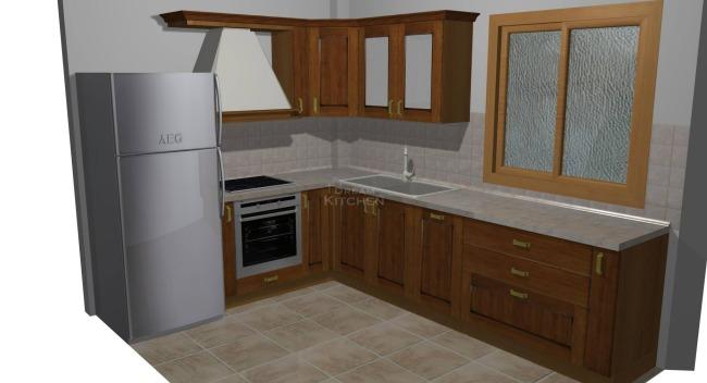 Σχέδιο Κουζίνας Ημιμασίφ 2.583€