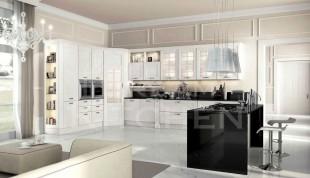Ημιμασιφ κουζινα χρώμα Bianco