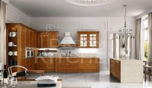 Ημιμασιφ κουζινα χρώμα Terra