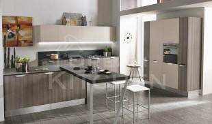 Κουζινα μελαμινης Canapa και Tiglio grigio