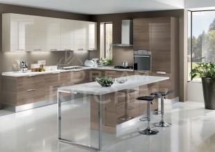 Cloe-Γυαλιστερή-Βακελιτική-κουζίνα-με-οριζόντιες-γραμμές