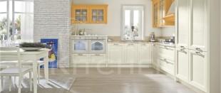 Country ημιμασιφ κουζινα bianco και zaferrano