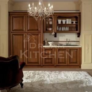 Firenze ημιμασιφ Κουζίνα καρυδιά ημιγυαλιστερή