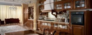 Firenze ημιμασιφ Κουζίνα καρυδιά ημιγυαλιστερή 2