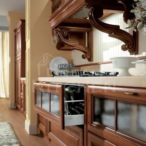 Firenze ημιμασιφ Κουζίνα καρυδιά ημιγυαλιστερή 3