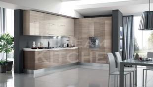 Time Γυαλιστερή Βακελιτική κουζίνα με οριζόντιες γραμμές 13