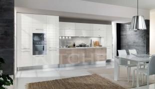 Time Γυαλιστερή Βακελιτική κουζίνα με οριζόντιες γραμμές 8