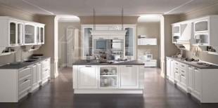 ημιμασιφ κουζινα λευκο ντεκαπε