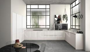 Λευκο Corian κουζινα