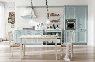 Γαλαζιο κλασσικο μοντελο κουζινας