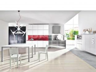 λευκο με κοκκινο κουζινα