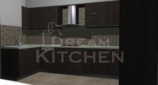 3D σχεδιασμος Κουζινας Βακελιτη Καφε σκουρο