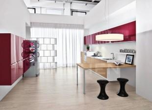κοκκινο με λευκο γυαλιστερο πορτακι κουζινας