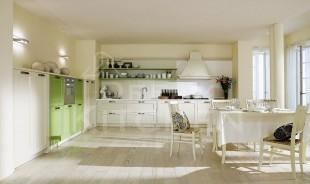 φυστικι με λευκο κουζινα κλασσικη