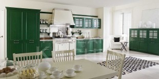 Πρασινη κουζινα κλασσικη vintage