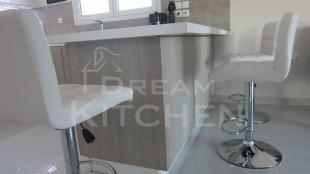 Λευκος γυαλιστερος Βακελιτης με ξυλο κρεμ 15