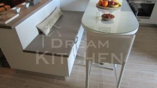 Κουζινα Πολυμερικο σε λευκο χρωματισμο 6