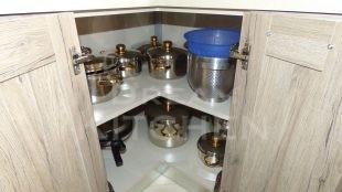 Ραφι Επιπλα Κουζινας Βακελιτη με Ταμπλα σε καφέ αποχρωση 15