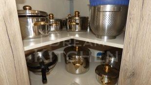 Ραφι Επιπλα Κουζινας Βακελιτη με Ταμπλα σε καφέ αποχρωση 16