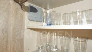 Μηχανισμος Blum Επιπλα Κουζινας Βακελιτη με Ταμπλα σε καφέ αποχρωση 27