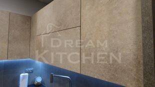 Επίπλα κουζίνας HPL Cemento με παγκο Fenix 13