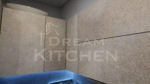 Επίπλα κουζίνας HPL Cemento με παγκο Fenix 15