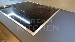 Επίπλα κουζίνας HPL Cemento με παγκο Fenix 19